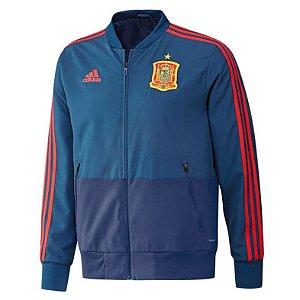Jaqueta oficial Adidas seleção da Espanha 2018 Azul