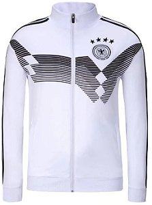 Jaqueta oficial Adidas seleção da Alemanha 2018 Branca e preta