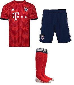 Kit adulto oficial Adidas Bayern de Munique 2018 2019 I jogador