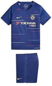 Kit infantil oficial Nike Chelsea 2018 2019 I jogador