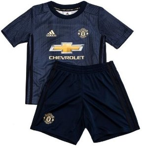 Kit infantil oficial Adidas Manchester United 2018 2019 III jogador