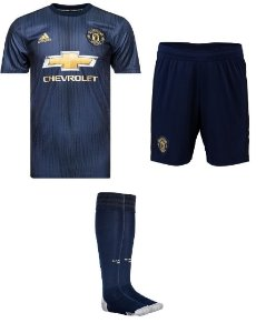 Kit adulto oficial Adidas Manchester United 2018 2019 III jogador