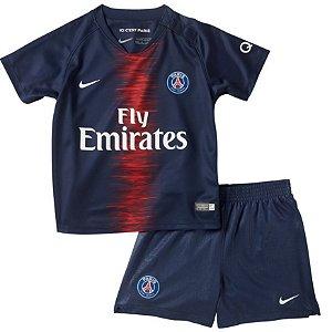 Kit infantil oficial Nike PSG 2018 2019 I jogador