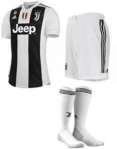 Kit adulto oficial Adidas Juventus 2018 2019 I jogador