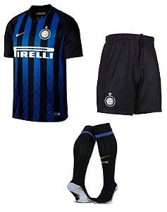Kit adulto oficial Nike Inter de Milão 2018 2019 I jogador