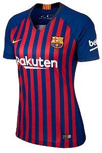 Camisa feminina oficial Nike Barcelona 2018 2019 I