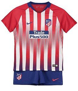 Kit infantil oficial Nike Atletico de Madrid 2018 2019 I jogador