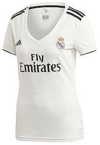 Camisa feminina oficial Adidas Real Madrid 2018 2019 I