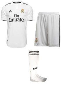 Kit adulto oficial Adidas Real Madrid 2018 2019 i jogador