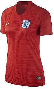 Camisa feminina oficial Nike seleção da Inglaterra 2018 II