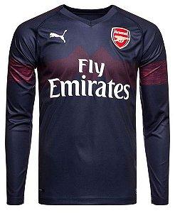 Camisa oficial Puma Arsenal 2018 2019 II jogador manga comprida