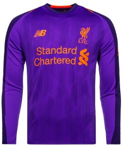 Camisa oficial New Balance Liverpool 2018 2019 II jogador manga comprida
