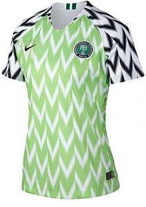 Camisa feminina oficial Nike seleção da Nigéria 2018 I