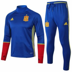 Kit treinamento oficial Adidas seleção da Espanha 2018 Azul e vermelho