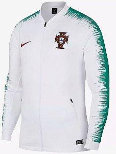 Jaqueta oficial Nike seleção de Portugal 2018 Branca e verde