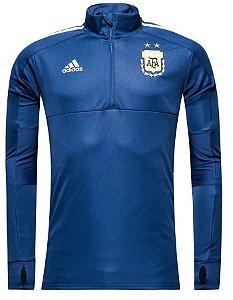 Jaqueta oficial Adidas seleção da Argentina 2018 Azul