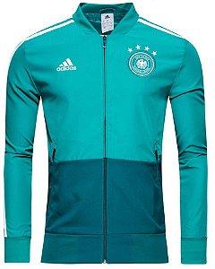 Jaqueta oficial Adidas seleção da Alemanha 2018 verde