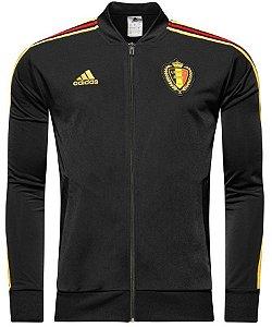 Jaqueta oficial Adidas seleção da Bélgica 2018 preta