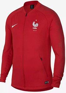 Jaqueta oficial Nike seleção da França 2018 vermelha