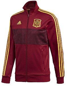 Jaqueta oficial Adidas seleção da Espanha 2018 vermelha e amarela