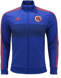 Jaqueta oficial Adidas seleção da Colombia 2018 Azul e vermelha