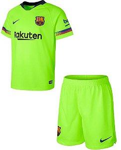 Kit infantil oficial Nike Barcelona 2018 2019 II jogador