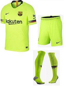 Kit adulto oficial Nike Barcelona 2018 2019 II jogador