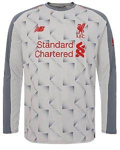 Camisa oficial New Balance Liverpool 2018 2019 III jogador manga comprida