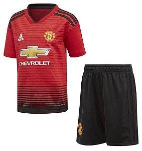 Kit infantil oficial Adidas Manchester United 2018 2019 I jogador