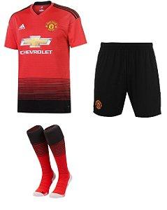 Kit adulto oficial Adidas Manchester United 2018 2019 I jogador