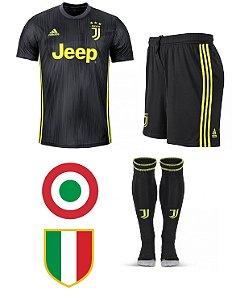 Kit adulto oficial Adidas Juventus 2018 2019 III jogador