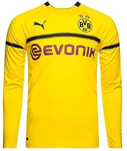 Camisa oficial Puma Borussia Dortmund 2018 2019 Champions League manga comprida