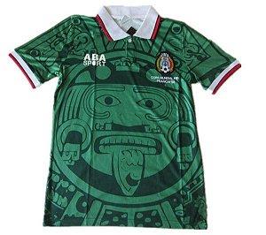 Camisa retro aba sport Seleção do México Copa do mundo 1998