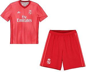 Kit infantil oficial Adidas Real Madrid 2018 2019 III jogador