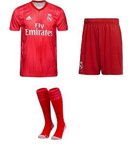 Kit adulto oficial Adidas Real Madrid 2018 2019 III jogador