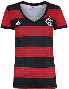 Camisa feminina oficial Adidas Flamengo 2018 I