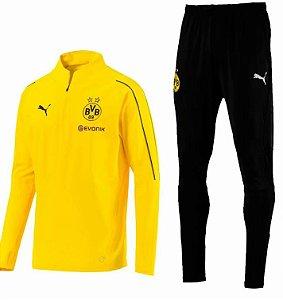 Kit treinamento oficial Puma Borussia Dortmund 2018 2019 amarelo e preto