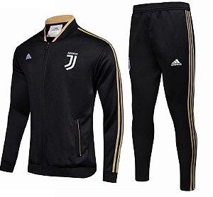 Kit treinamento oficial Adidas Juventus 2018 2019 Preto