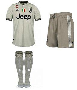 Kit adulto oficial Adidas Juventus 2018 2019 II jogador