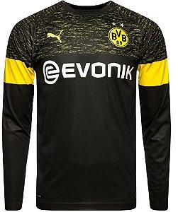 Camisa oficial Puma Borussia Dortmund 2018 2019 II jogador manga comprida