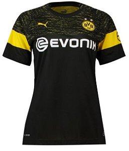 Camisa feminina oficial Puma Borussia Dortmund 2018 2019 II