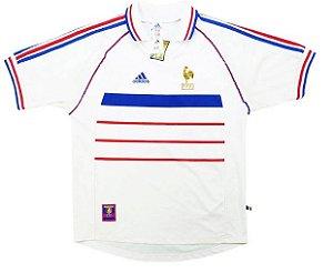Camisa retro Adidas seleção da França 1998 II jogador