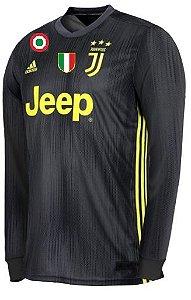 Camisa oficial Adidas Juventus 2018 2019 III jogador manga comprida