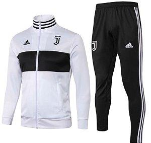 Kit treinamento oficial Adidas Juventus 2018 2019 Branco e preto