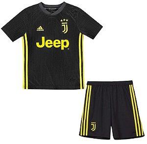 Kit infantil oficial Adidas Juventus 2018 2019 III jogador