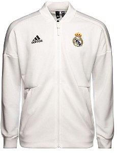 Jaqueta oficial Adidas Real Madrid 2018 2019 Branca