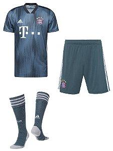 Kit adulto oficial Adidas Bayern de Munique 2018 2019 III jogador