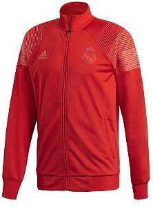 Jaqueta oficial Adidas Real Madrid 2018 2019 vermelha