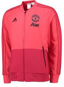 Jaqueta oficial Adidas Manchester United 2018 2019 rosa