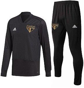 Kit treinamento oficial Adidas São Paulo 2018 2019 Preto